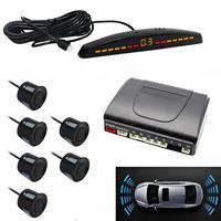 6Pcs Sensors 22mm Size Car LED Monitor display Parking Sensor Kit Auto Reverse Backup Alarm front and rear parking sensor PZ309-6