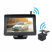 4.3 inch Display Wireless Rear View Camera System Car Wireless Reverse Camera System PZ612-W