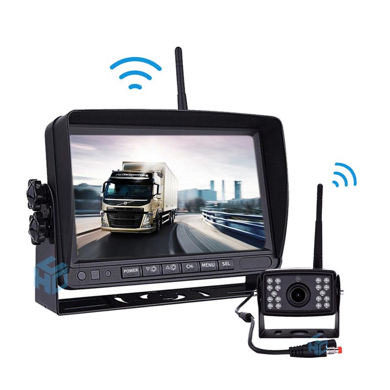 "7/""TFT Wireless Digital LCD Monitor W// Car Rear View Parking Backup Camera Kit"