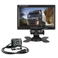 Truck School Bus Universal Car Vehicle 7 Inch Monitor With Top View 24 Volt Wide Voltage Ip67 Security Night Vision Reverse Camera Trailer System PZ612-AHD