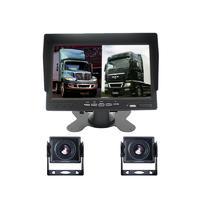 Ahd Truck Vehicle 7 Inch Monitor Recording Blackbox 1080P 2 Camera Rear View Backup Truck Camera System 4 Pin PZ612-2AHD