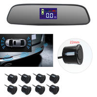 8pcs 22mm front rear parking sensor system with